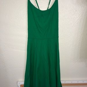 Green strappy back skater dress!